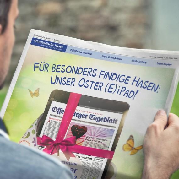 Mittelbadische Presse / iPad Aktion / Anzeige