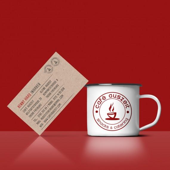 Café Auszeit   Visitenkarte