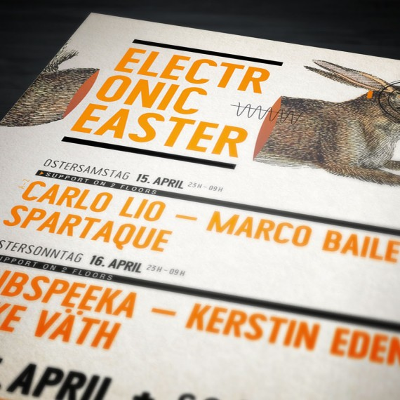 Borderline  | Electronic Easter | Plakat A1
